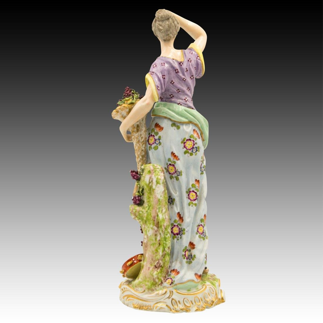 Meissen Female with Horn of Plenty and Grapes - 3