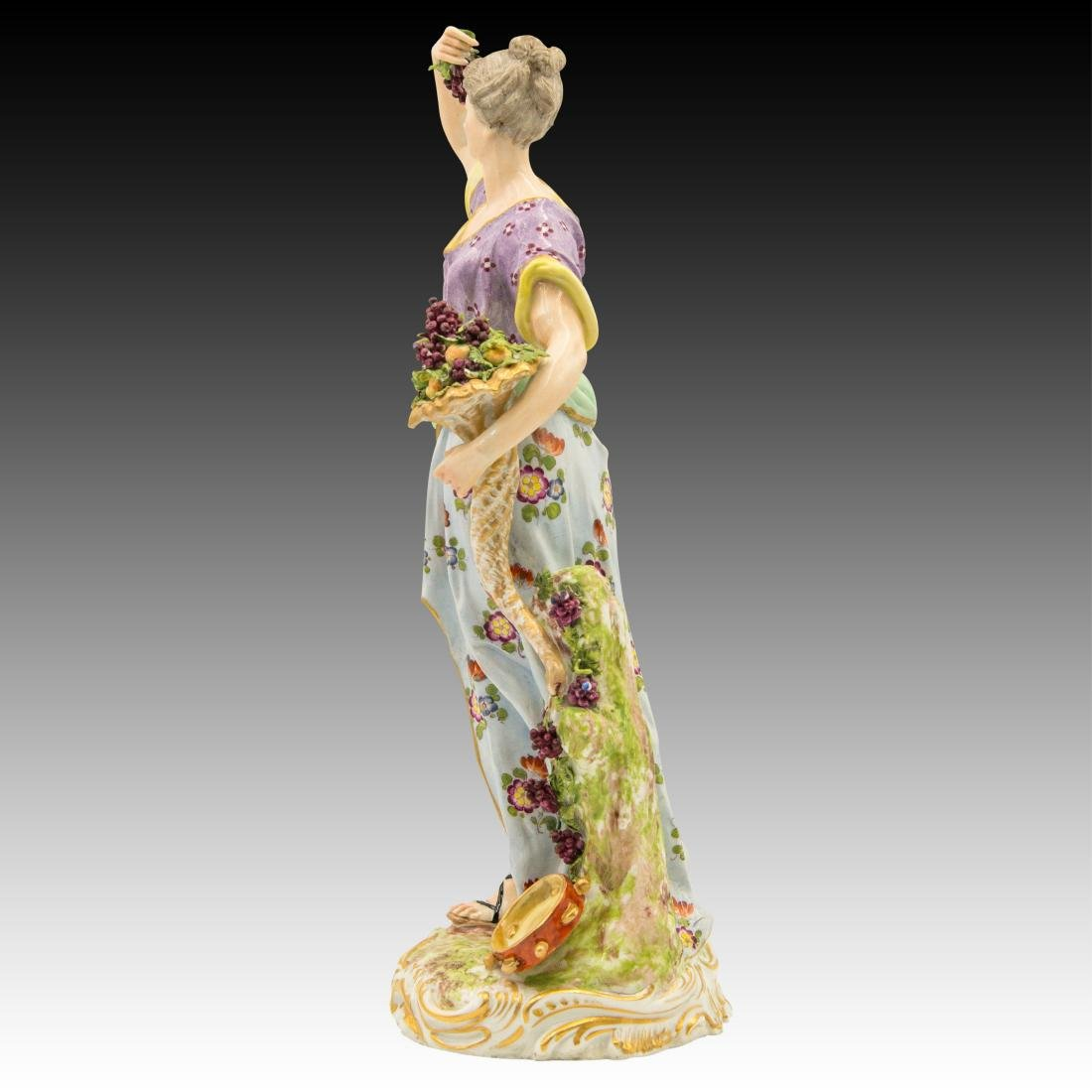 Meissen Female with Horn of Plenty and Grapes - 4