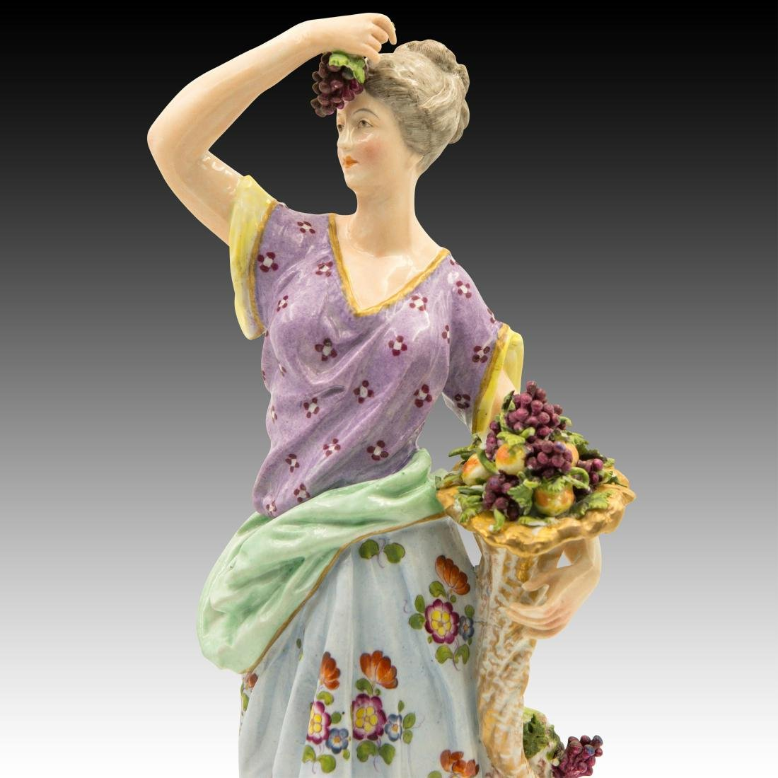 Meissen Female with Horn of Plenty and Grapes - 5