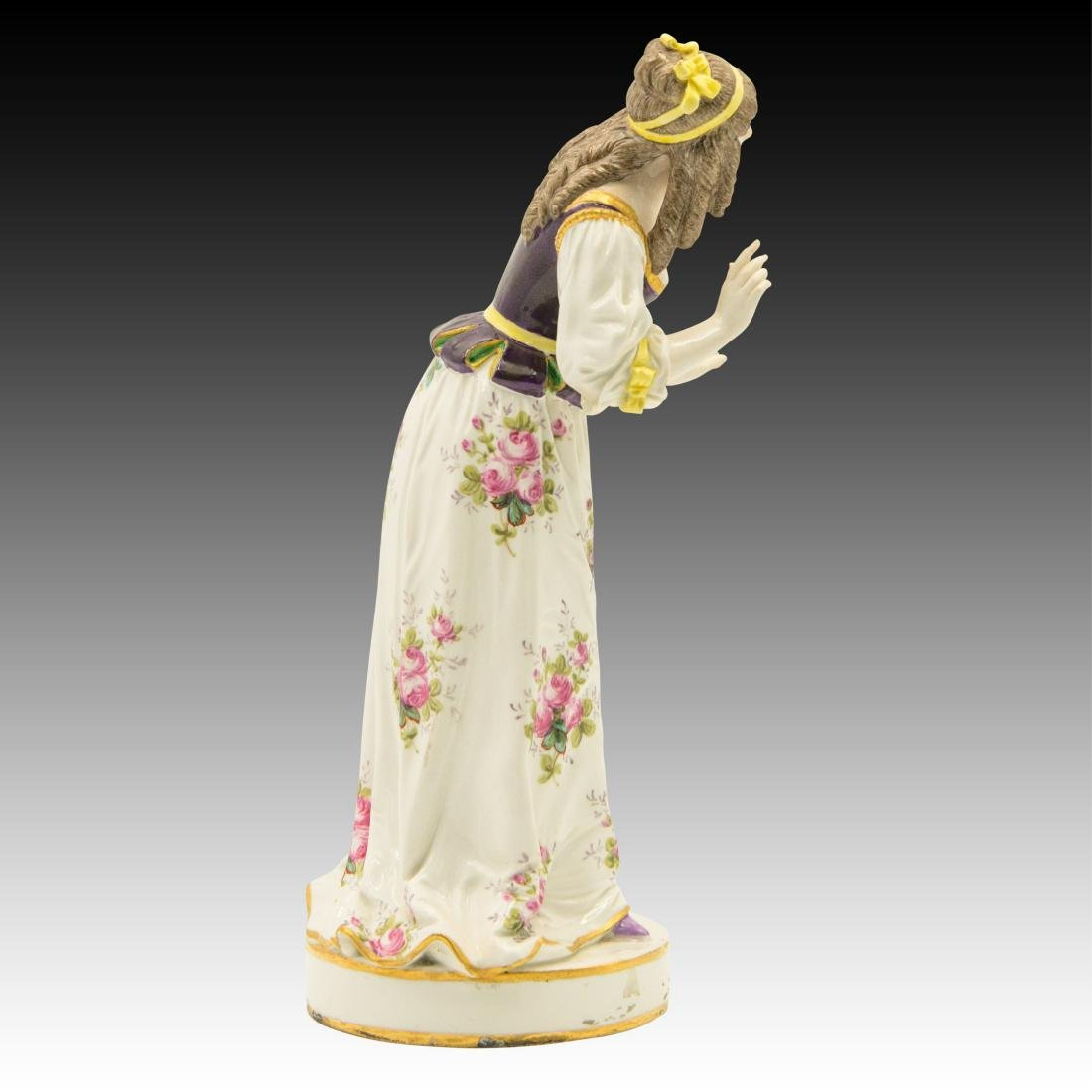 Meissen Colorful Young Woman in Flowered Dress - 2