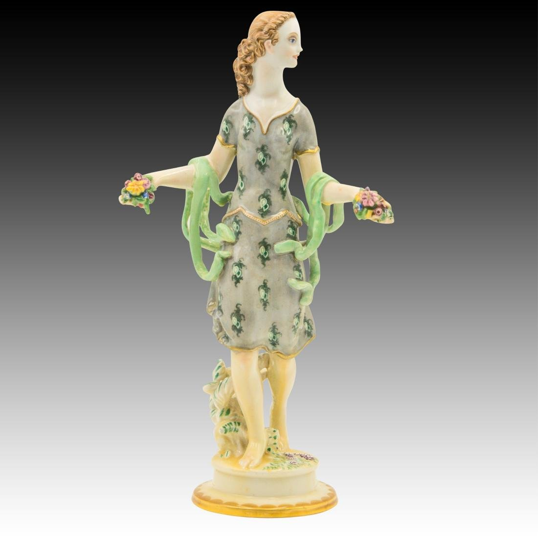 Wein Female with Flowers in her Hands Figurine