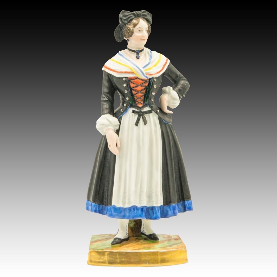 Augarten Woman Dressed in Black Figurine
