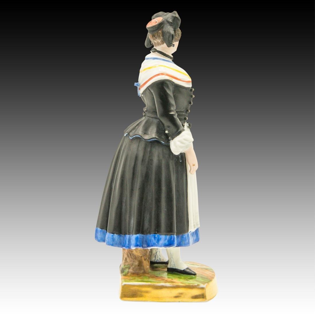 Augarten Woman Dressed in Black Figurine - 2
