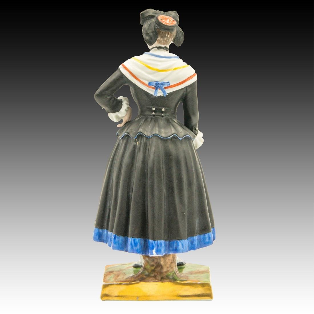 Augarten Woman Dressed in Black Figurine - 3