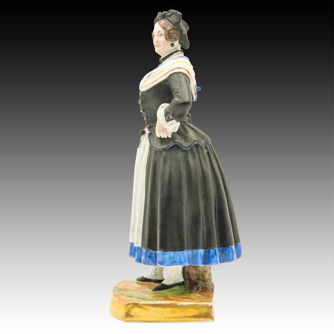 Augarten Woman Dressed in Black Figurine - 4
