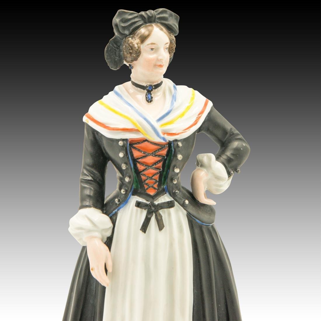 Augarten Woman Dressed in Black Figurine - 5