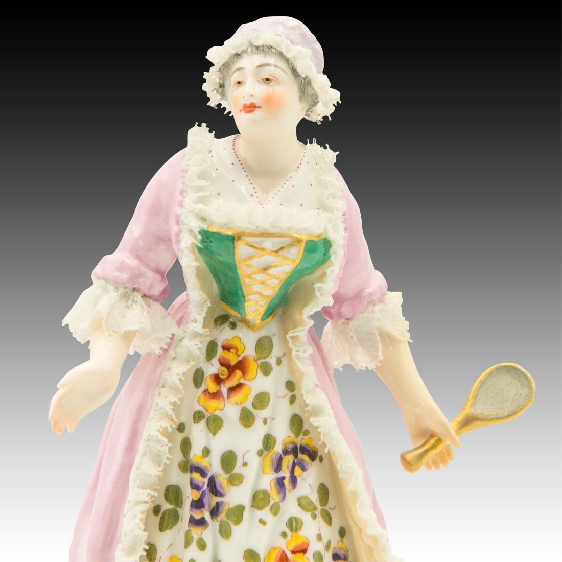 Meissen Maiden Wearing a Lace Dress Figurine - 5