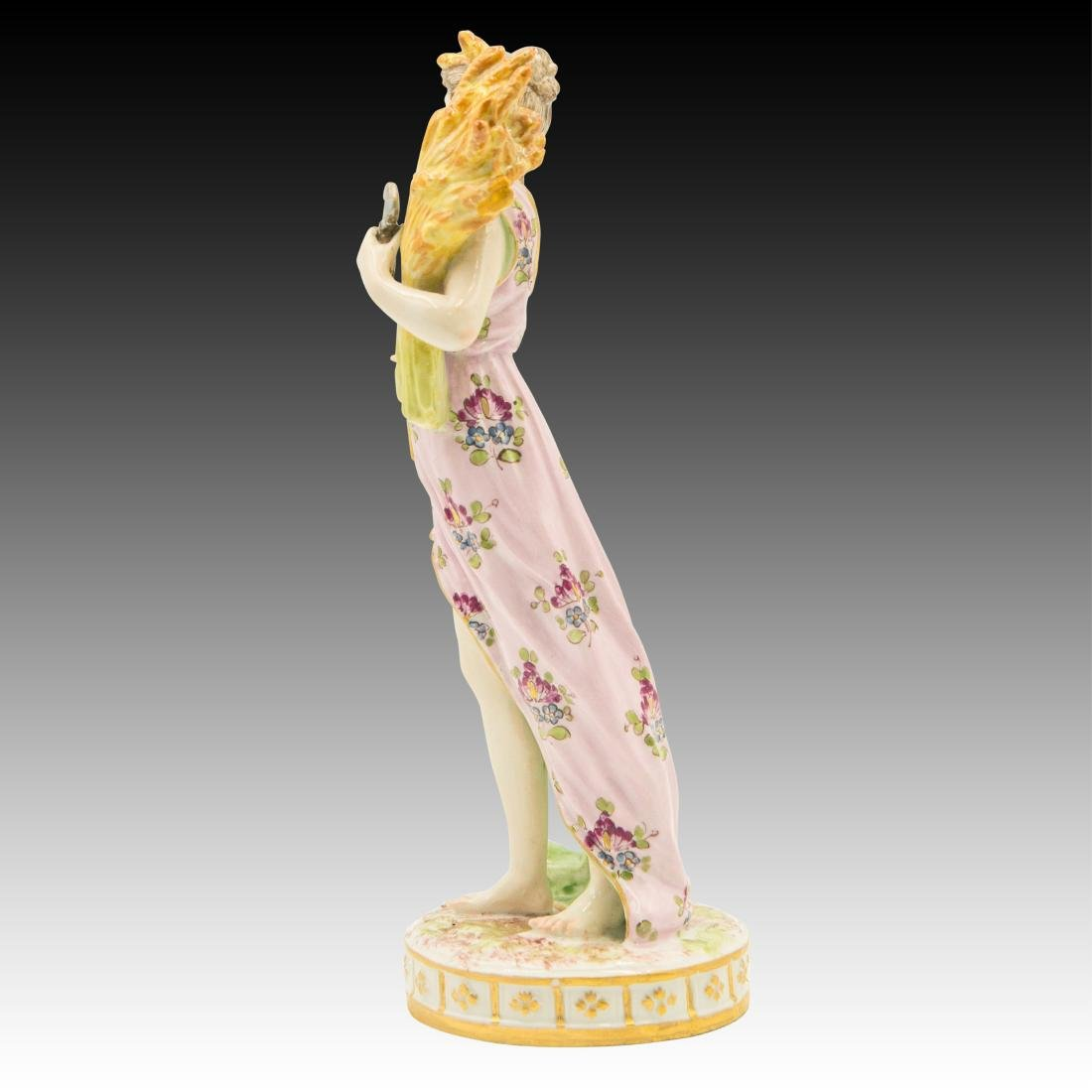 Meissen semi-nude Woman With Wheat Figurine - 2