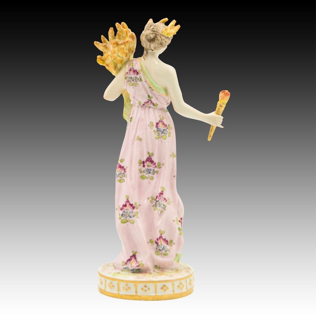 Meissen semi-nude Woman With Wheat Figurine - 3