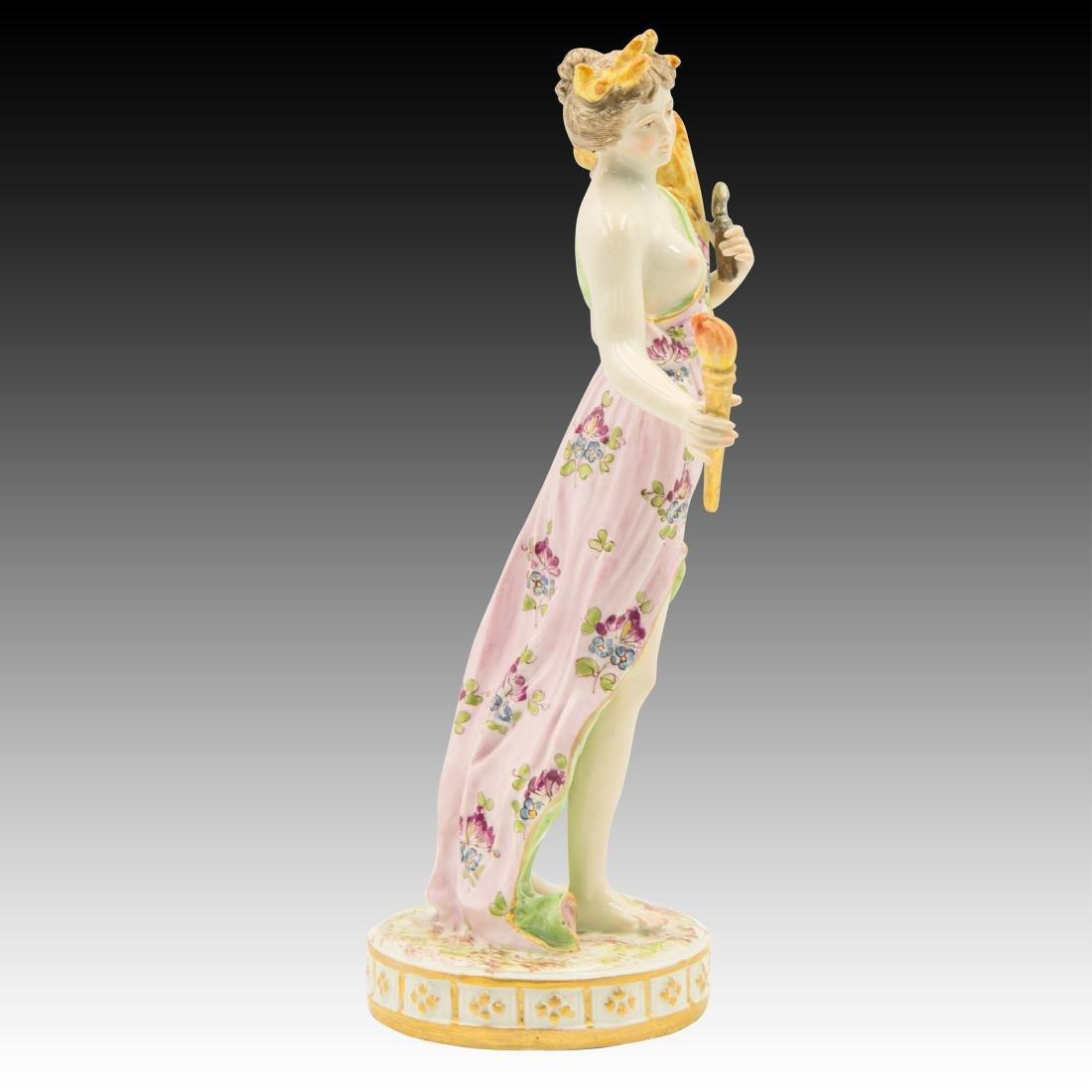 Meissen semi-nude Woman With Wheat Figurine - 4