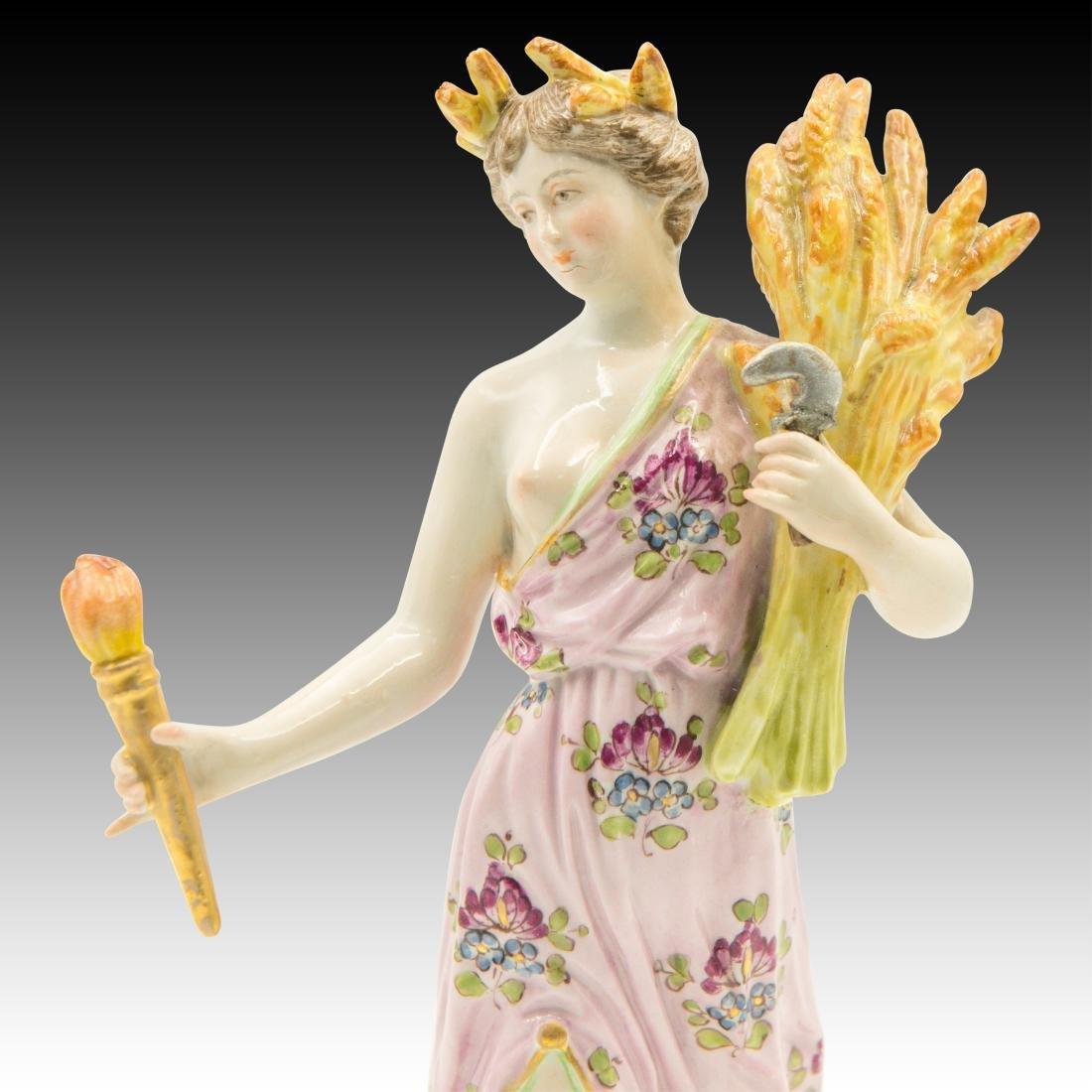 Meissen semi-nude Woman With Wheat Figurine - 5