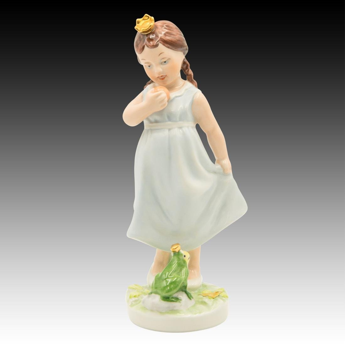 Royal Dux Princess and the Frog Figurine - 2