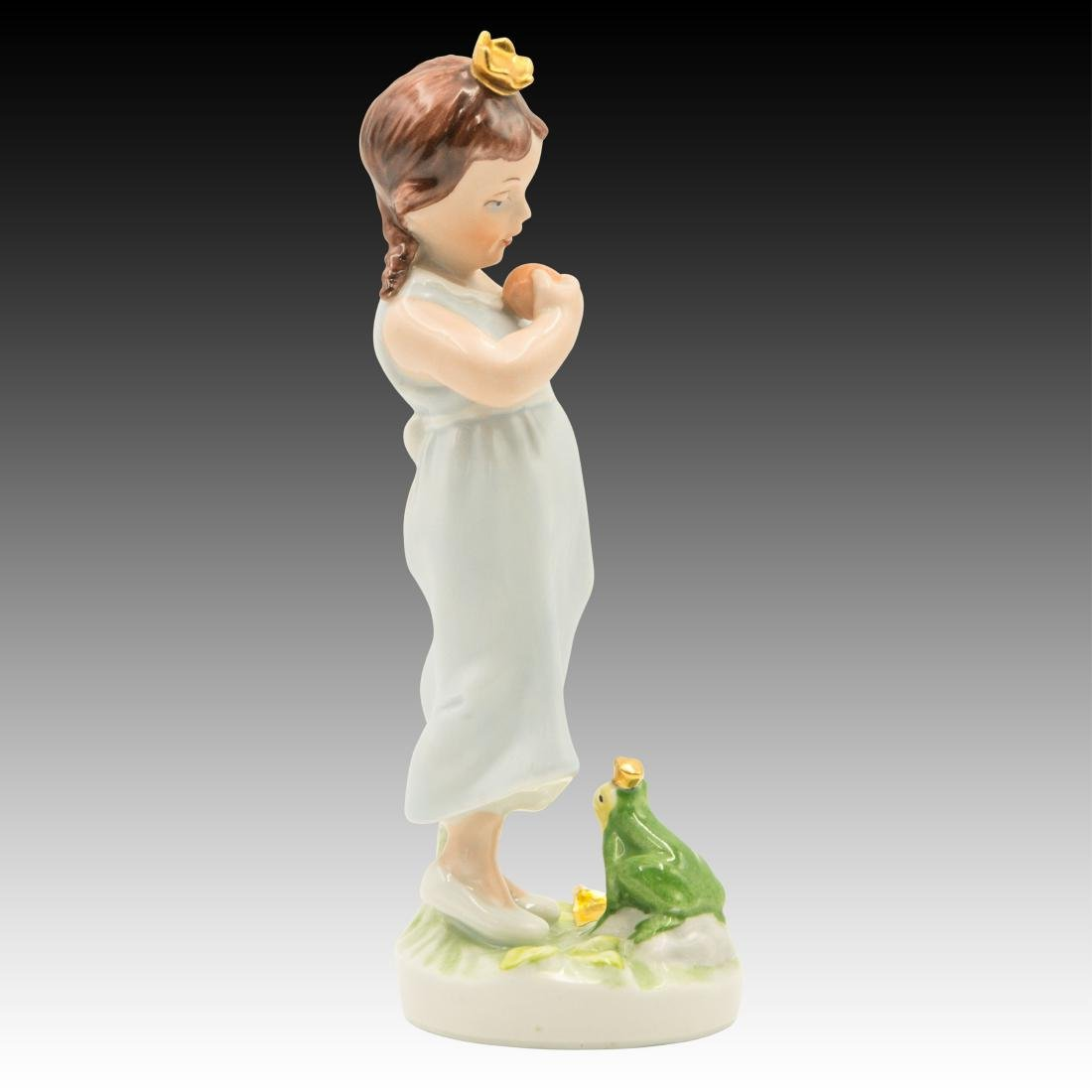 Royal Dux Princess and the Frog Figurine - 4
