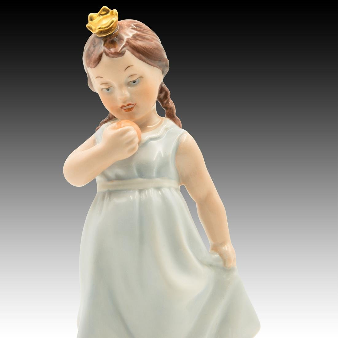 Royal Dux Princess and the Frog Figurine - 5