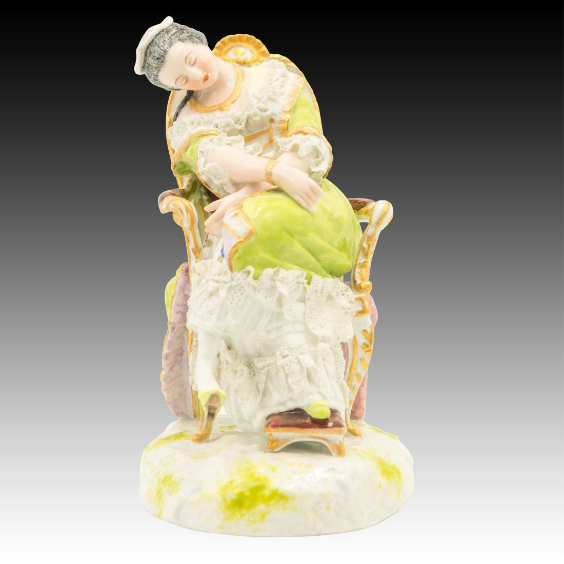 """Dresden Style Figurine """"Nap Time"""""""