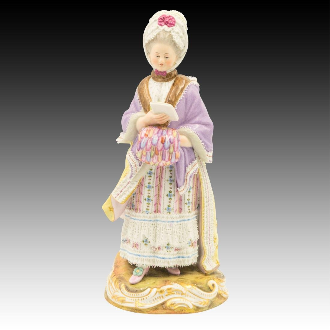 Meissen Lady Reading Figurine