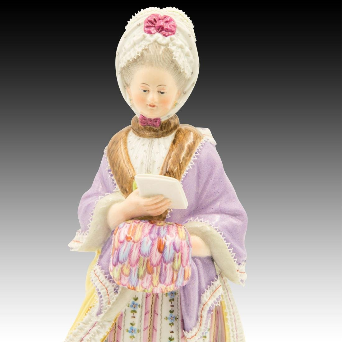 Meissen Lady Reading Figurine - 5
