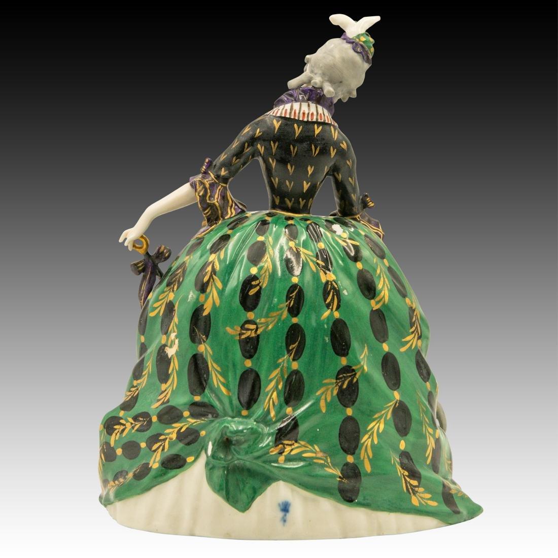 Polychrome Figurine Woman and her Greyhound - 3