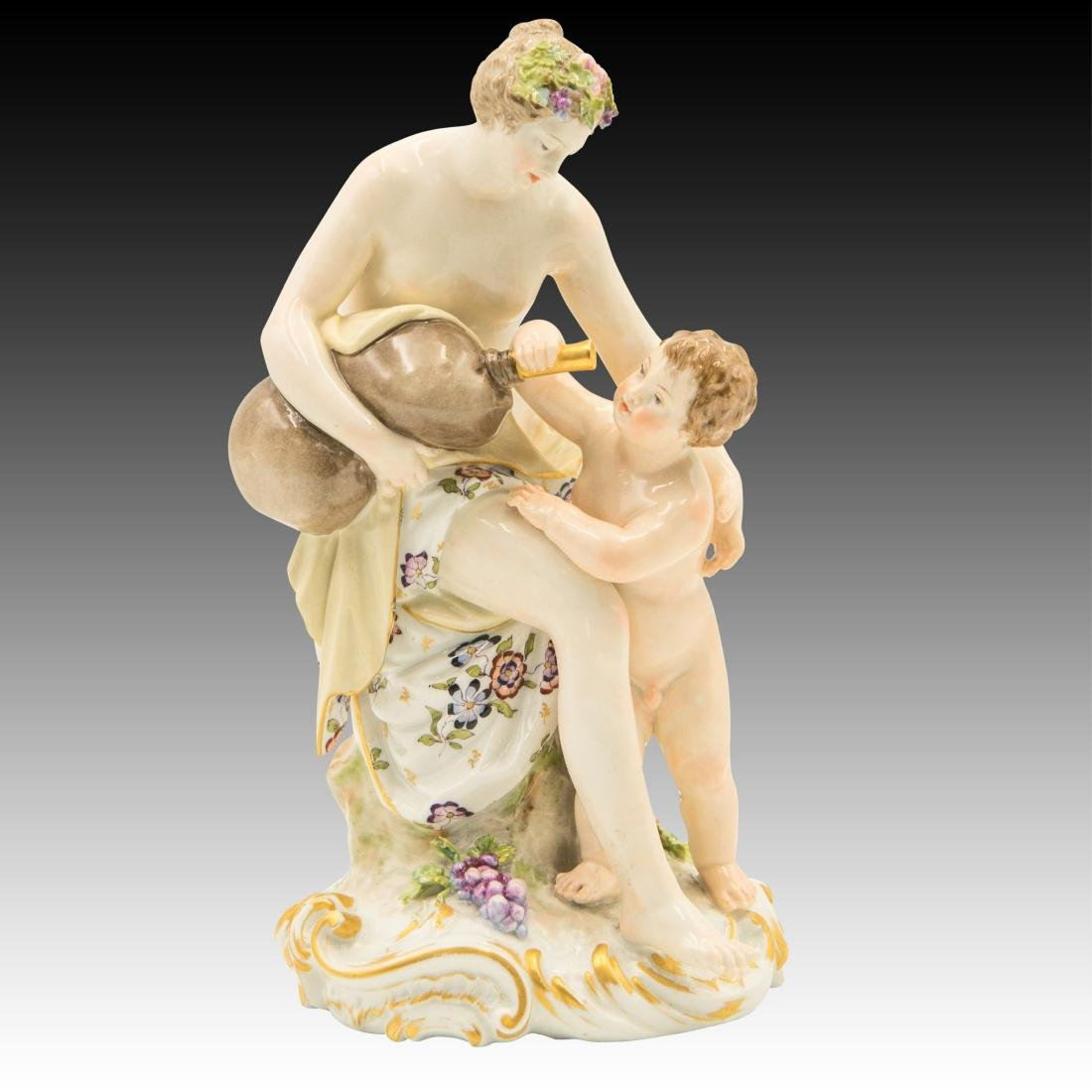 KPM Semi-nude Woman and Child Figurine