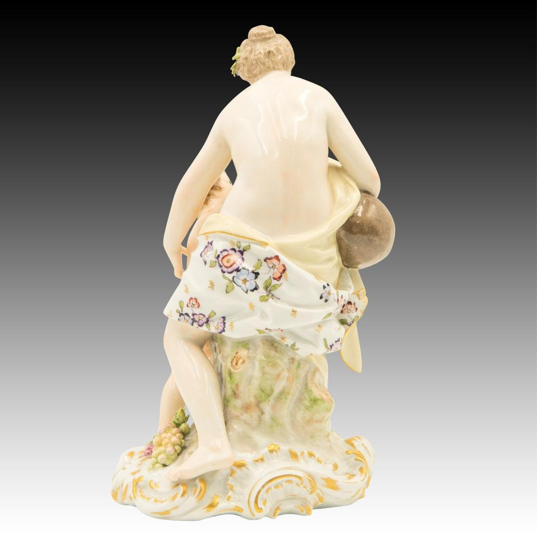 KPM Semi-nude Woman and Child Figurine - 3