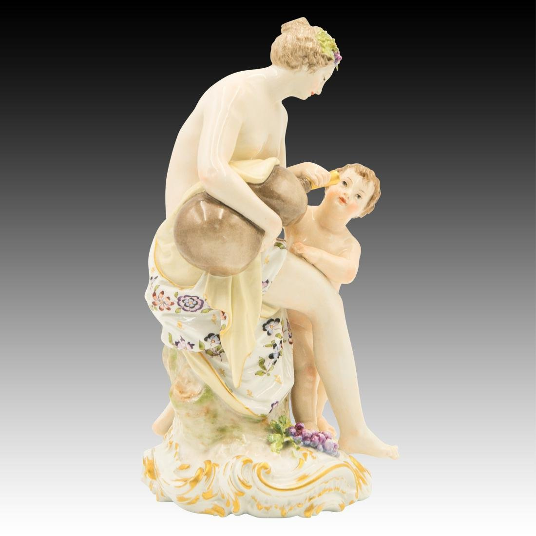 KPM Semi-nude Woman and Child Figurine - 4