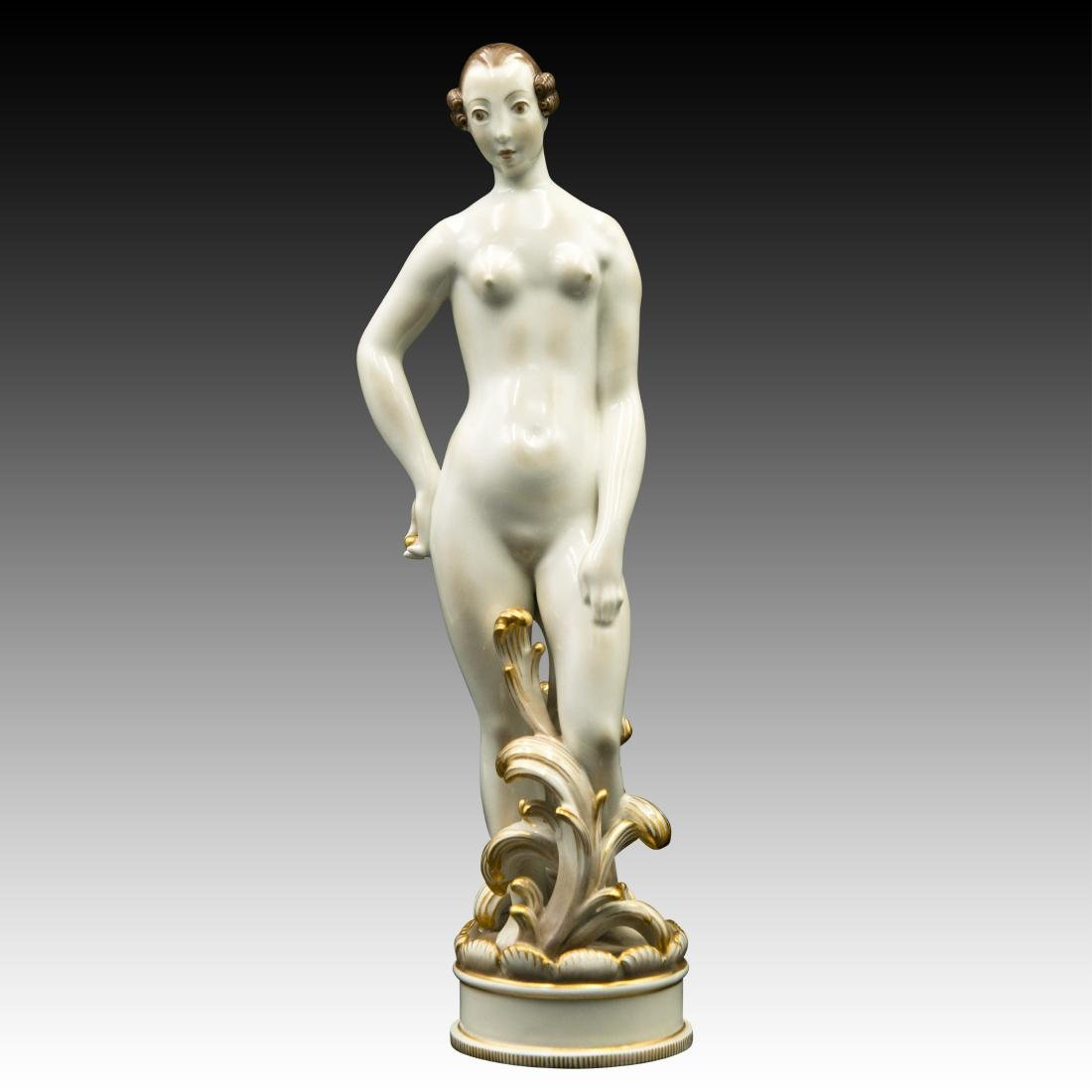 Royal Copenhagen Nude Female Brown Hair Figurine