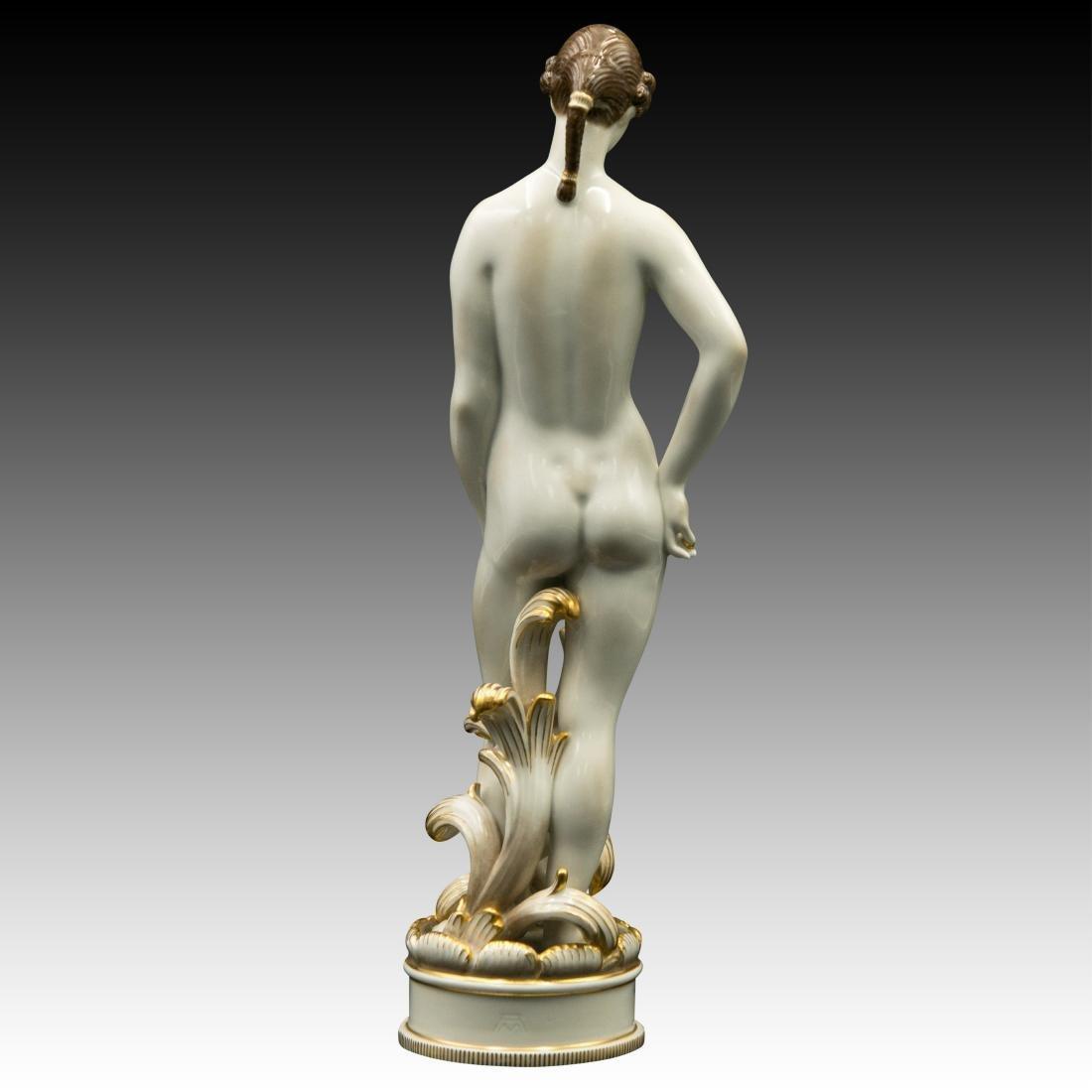 Royal Copenhagen Nude Female Brown Hair Figurine - 3