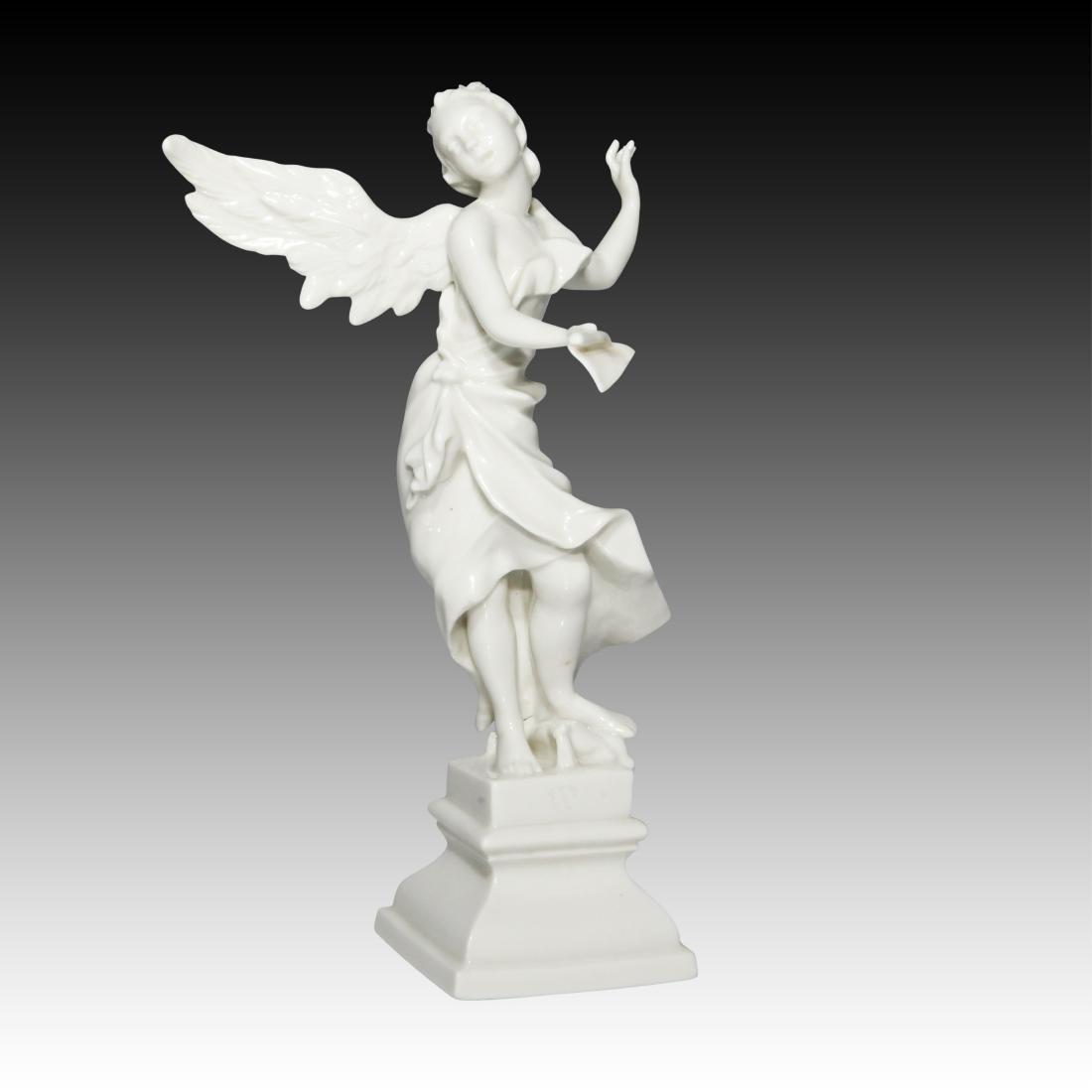 Nymphenburg Blanc de Chine Singing Angel Figurine