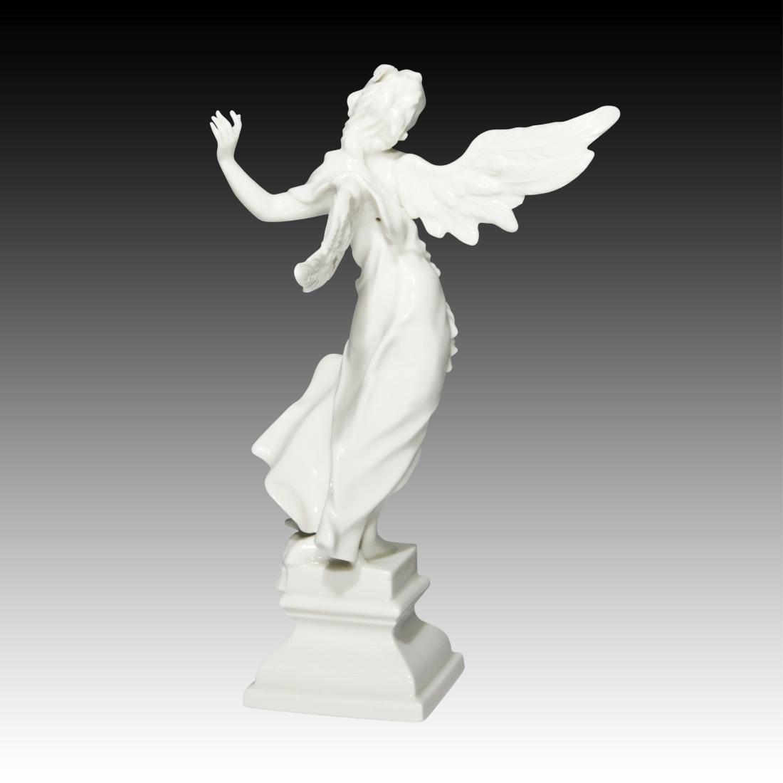 Nymphenburg Blanc de Chine Singing Angel Figurine - 2