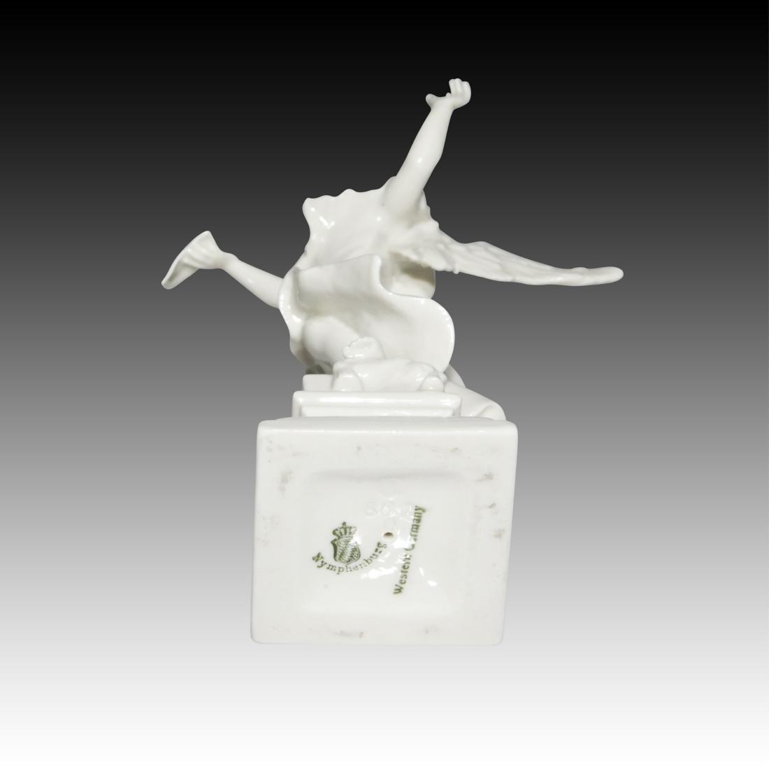Nymphenburg Blanc de Chine Singing Angel Figurine - 3