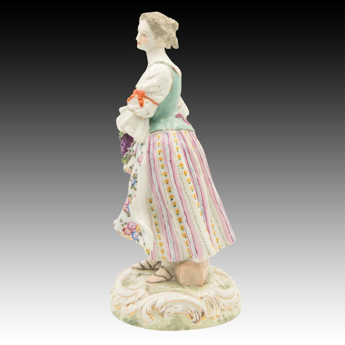 Meissen Young Woman Harvesting Grapes - 2