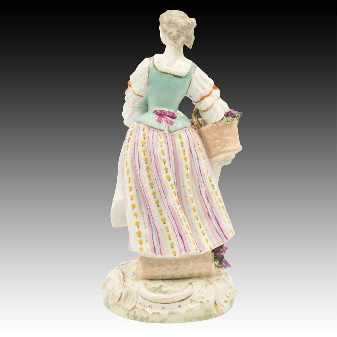 Meissen Young Woman Harvesting Grapes - 3