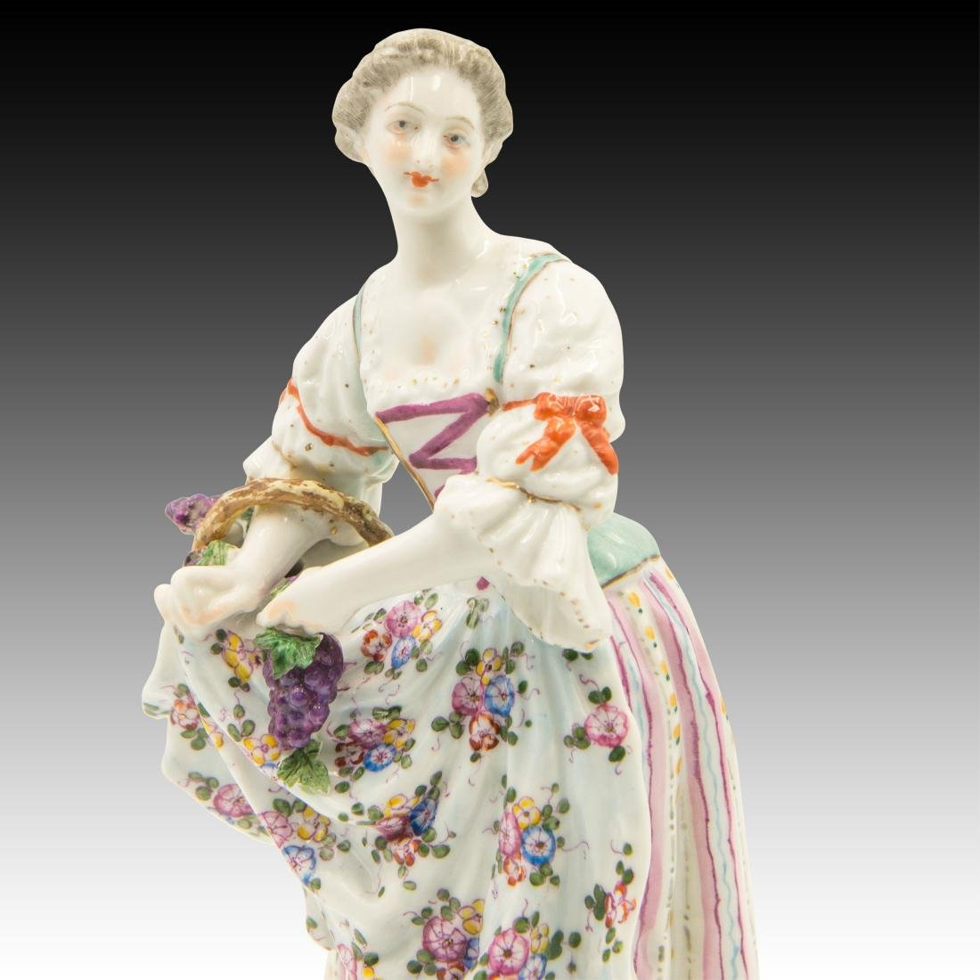 Meissen Young Woman Harvesting Grapes - 5