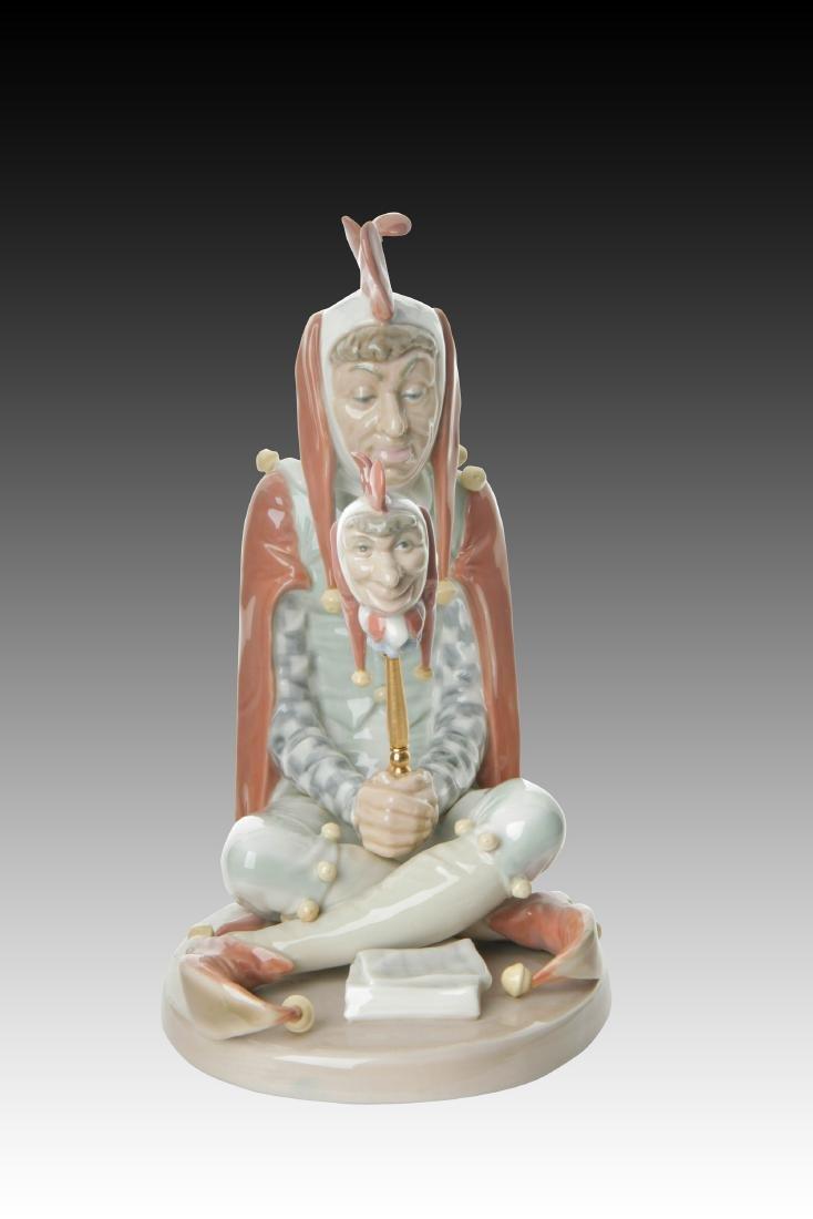Lladro Court Jester Figurine 1405 Retired 1984
