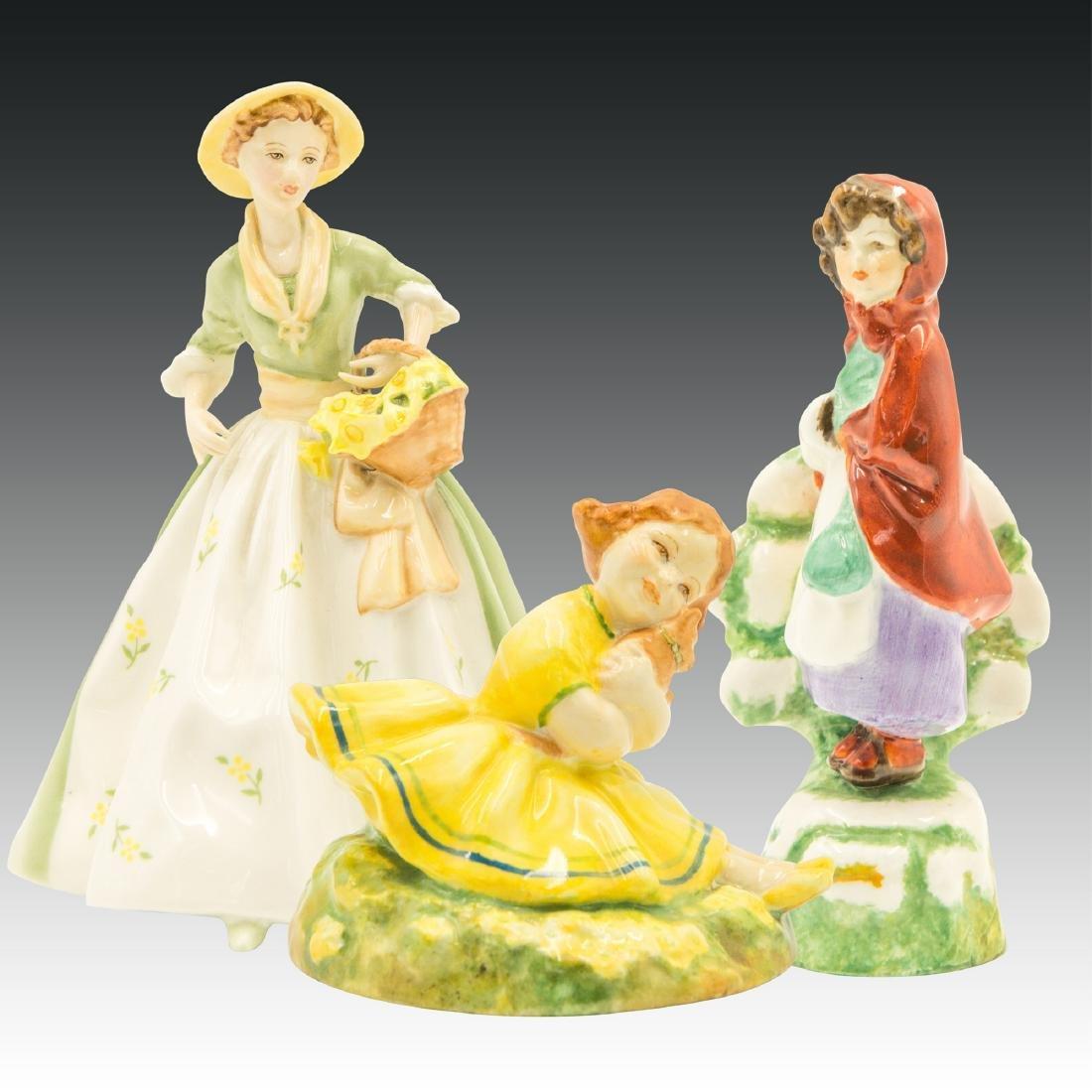 Group of 3 Royal Worcester Porcelain Figurines