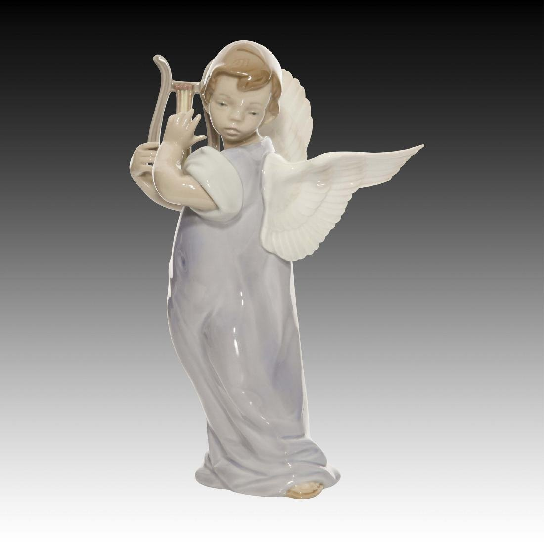 Lladro Angel with Lute Figurine 5493 Retired 1993