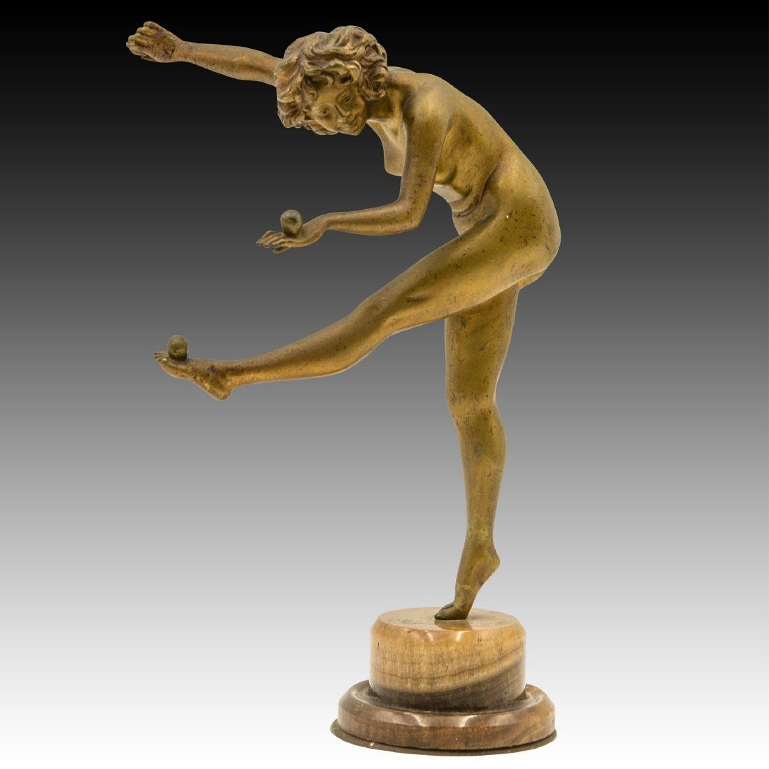 "Claire Jeanne (French) ""The Juggler"" Bronze Art"