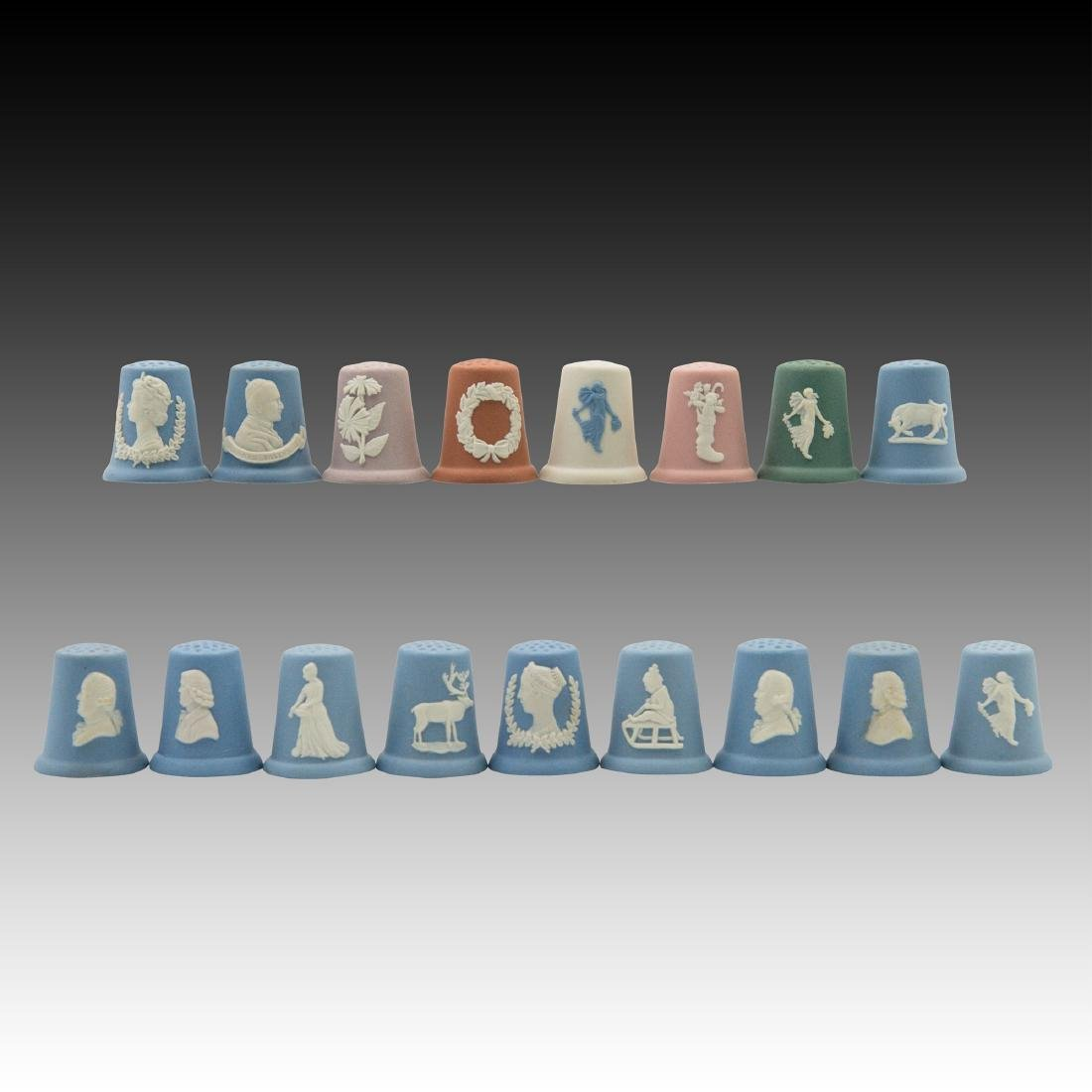 Group of 17 Wedgwood Thimbles
