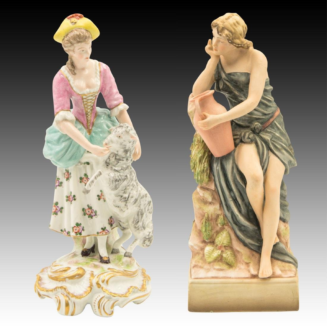 Group of 2 Kalk German Porcelain Figurines