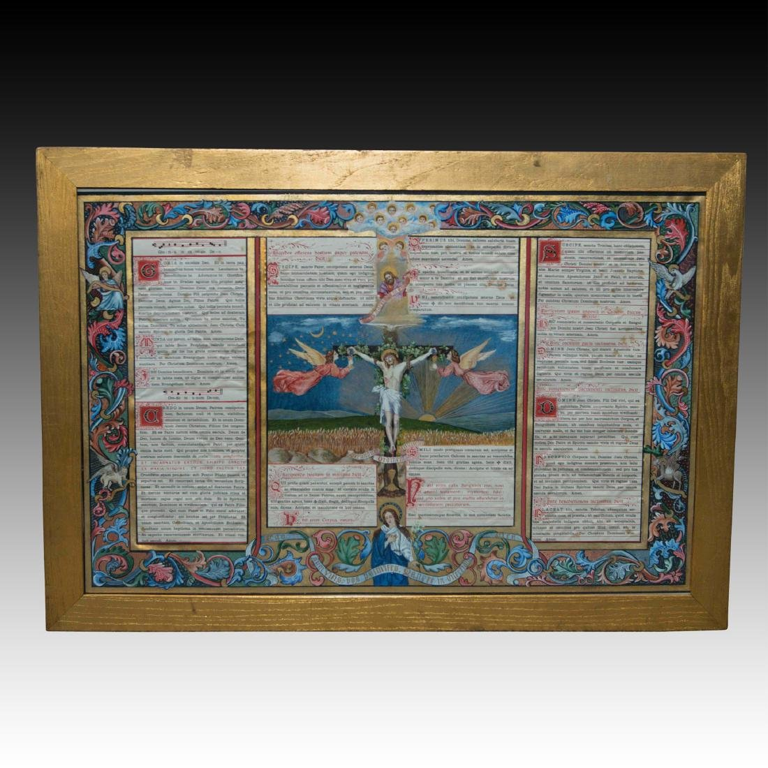Hand Painted Traditional Latin Mass Altar Card