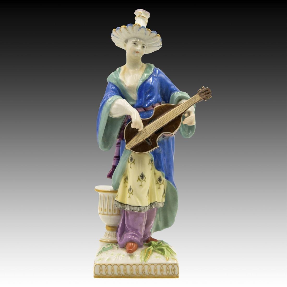 KPM Porcelain Malabar Female Musician Figurine