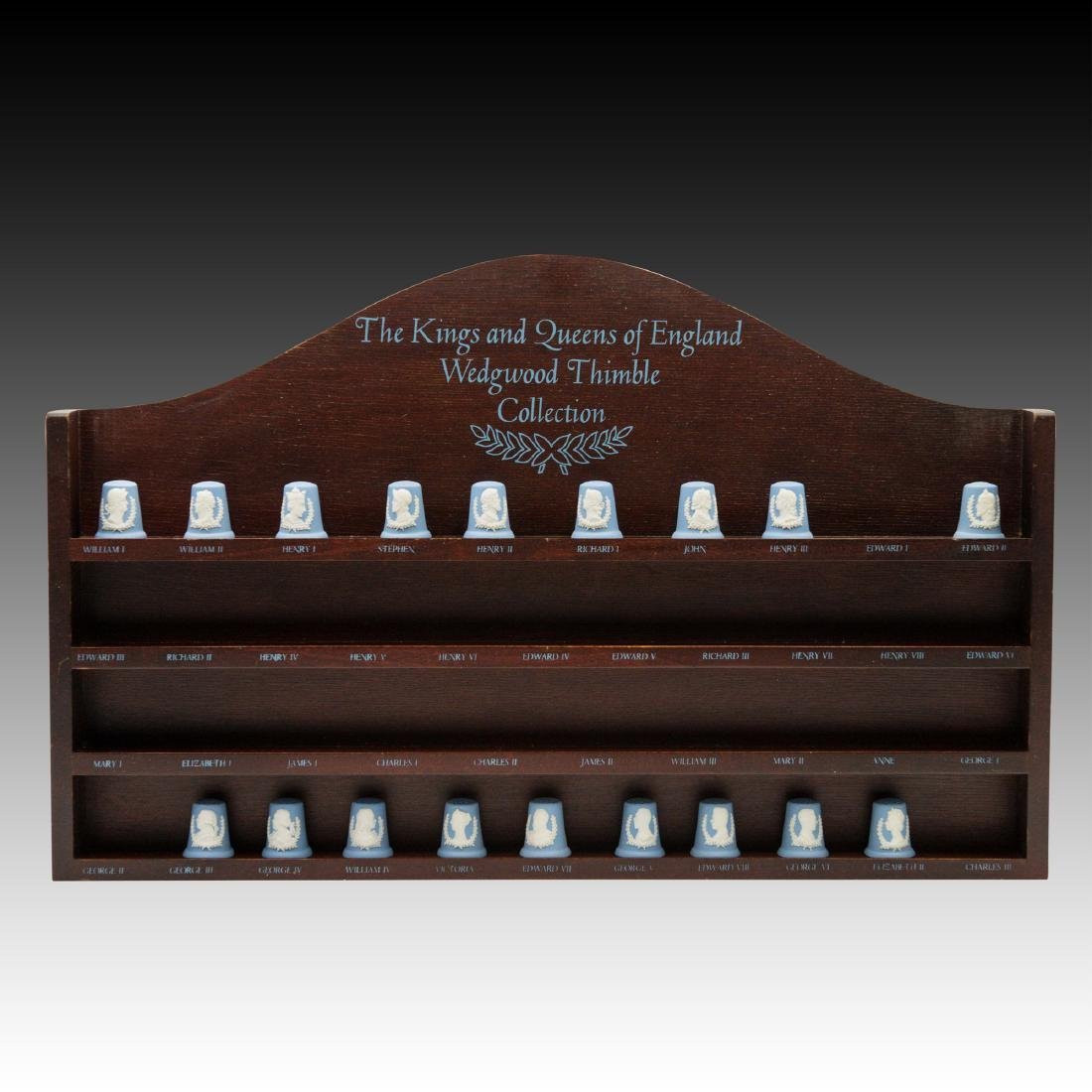 Set of 18 Kings and Queens Commemorative Thimbles