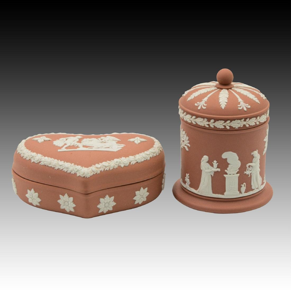 2 Wedgwood Jasperware boxes / containers