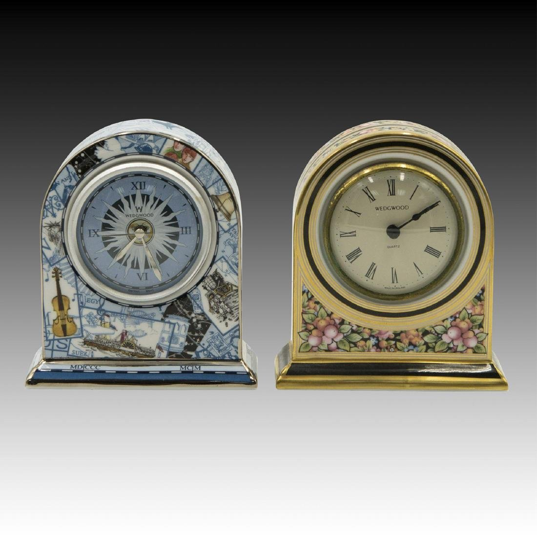 Pair of Wedgwood Bone China Clocks