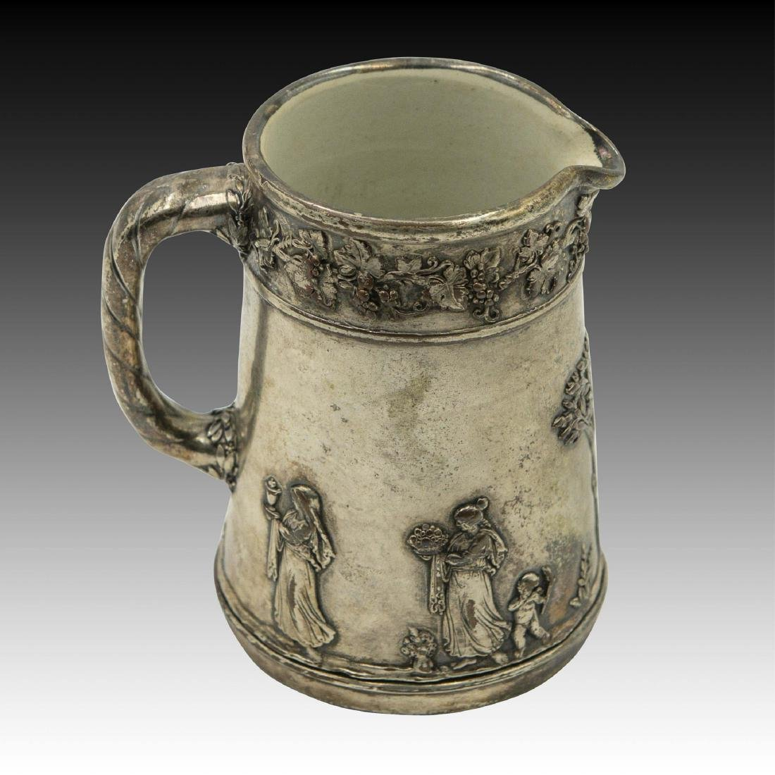 Small Silver Plated Copper Wedgwood Pitcher