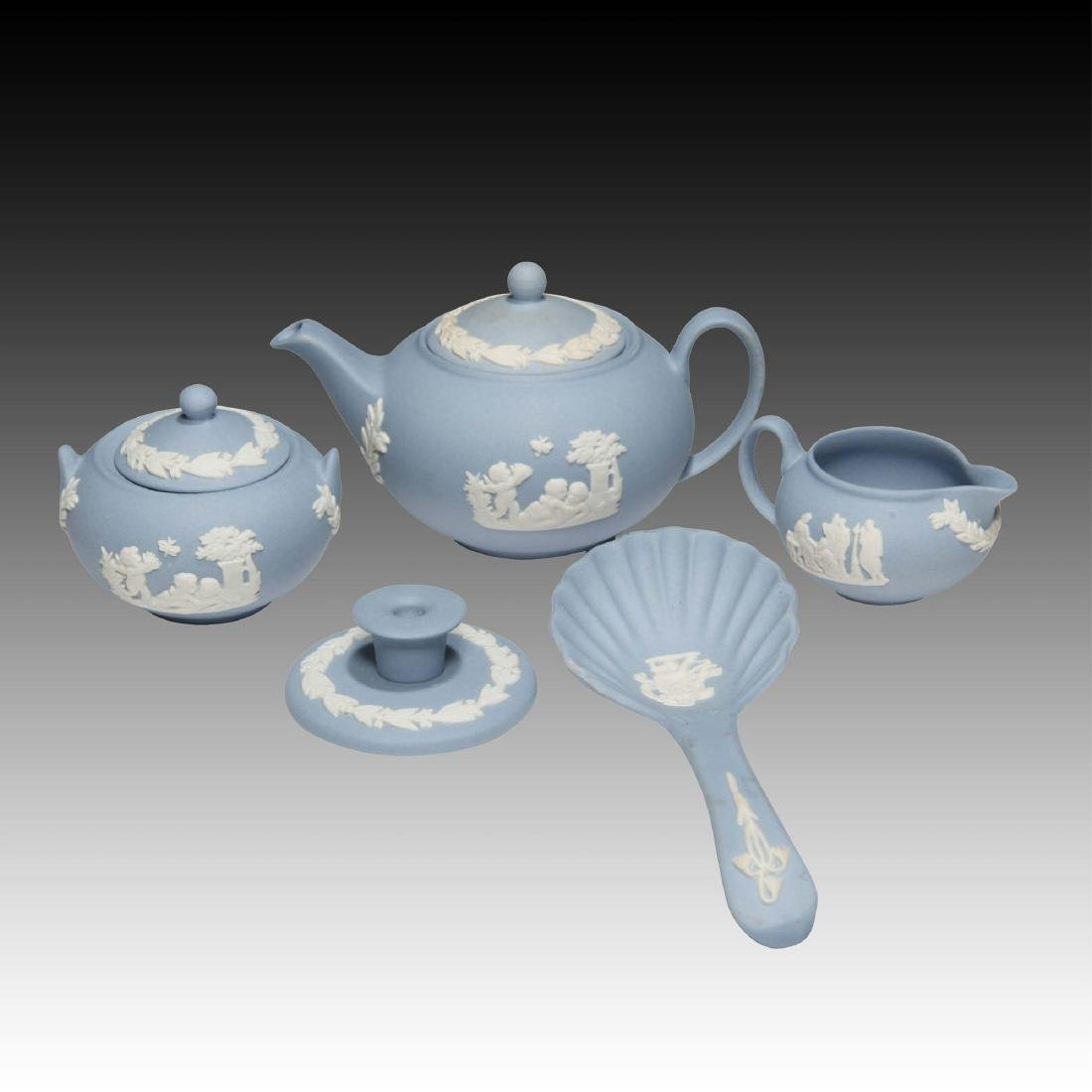 5 peice Wedgwood Jasperware Miniature tea set