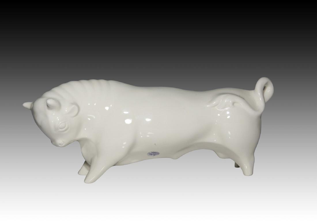 Large Creamware Wedgwood Ferdinand the Bull