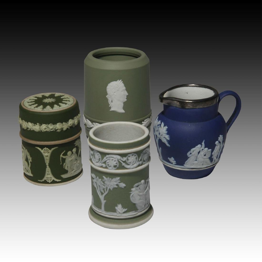 Group of 4 Wedgwood Jasperware containers