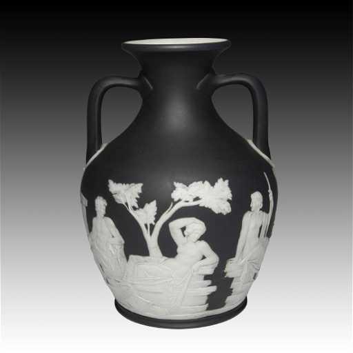Wedgwood Black Jasper Portland Vase