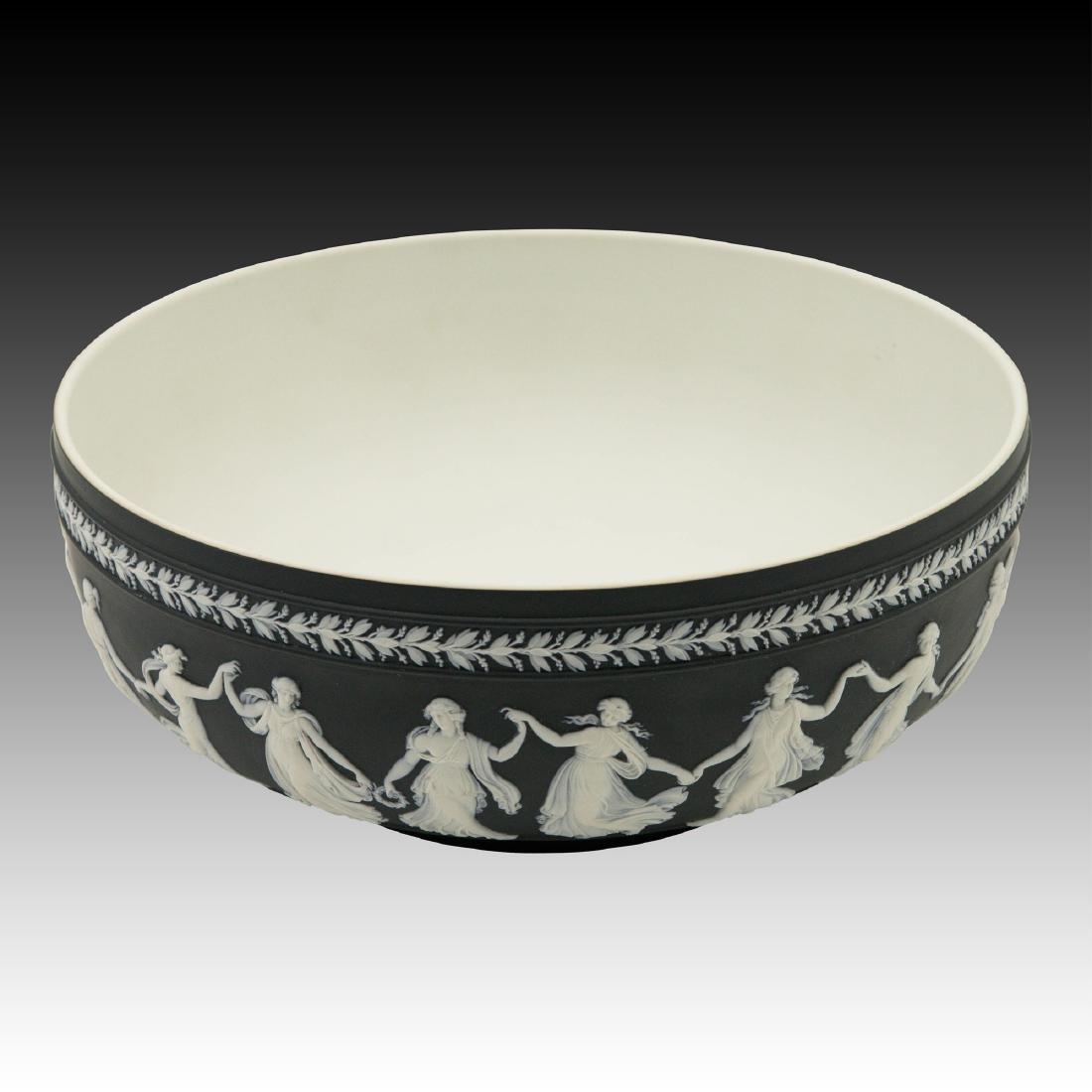Large Wedgwood Black Jasperware Bowl